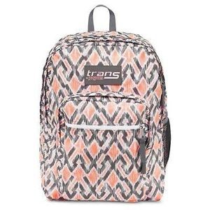 Jansport Pink and Gray Diamond Backpack